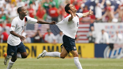 <p>               FILE - In this June 24, 2007, file photo, USA's Benny Feilhaber, right, celebrates with DaMarcus Beasley after scoring the winning goal against Mexico during the second half of the Gold Cup soccer final in Chicago. Midfielder Benny Feilhaber retired from soccer on Wednesday, March 11, 2020, after a career that included playing for the United States at the 2010 World Cup and nine years in Major League Soccer. (AP Photo/Nam Y. Huh, File)             </p>