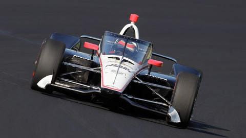 <p>               FILE - In this Wednesday, Oct. 2, 2019, file photo, Will Power, of Australia, drives into turn one during the Aeroscreen testing at Indianapolis Motor Speedway in Indianapolis. After 10 months of testing, the canopy-shaped cockpit protection is intended to protect the driver from debris. (AP Photo/Darron Cummings, File)             </p>