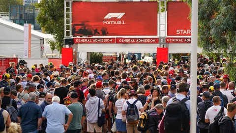 "<p>               Spectators line up at a gate to gain entry at the Australian Formula One Grand Prix track in Melbourne, Australia, Friday, March 13, 2020. Victoria state Premier Daniel Andrews said, ""On public health grounds, there will be no spectators at the Grand Prix this weekend - if a race actually happens at all."" (Scott Barbour/AAP Image via AP)             </p>"