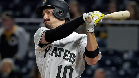 "<p>               FILE - In this Sept. 5, 2019, file photo, Pittsburgh Pirates' Bryan Reynolds follows through on a solo home run off Miami Marlins relief pitcher Jarlin Garcia during the ninth inning of a baseball game in Pittsburgh. Ask the Pittsburgh Pirates outfielder how he's been able to hit at every level -- from college through the minors to the majors, where he finished fourth in NL Rookie of the Year race in 2019 -- and he shrugs. His teammates, however, know better. Underneath his ""aw shucks"" demeanor is a grinder.(AP Photo/Gene J. Puskar, File)             </p>"
