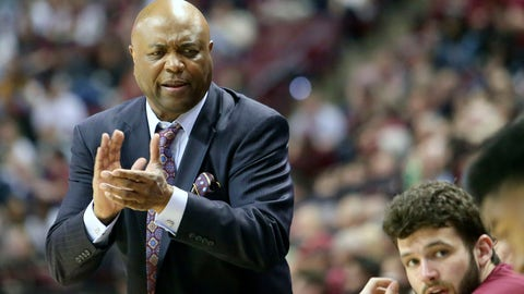 <p>               Florida State's head coach Leonard Hamilton talks up his bench in the second half of an NCAA college basketball game with Boston College Saturday, March 7 2020, in Tallahassee, Fla. Florida State won 80-62. (AP Photo/Steve Cannon)             </p>