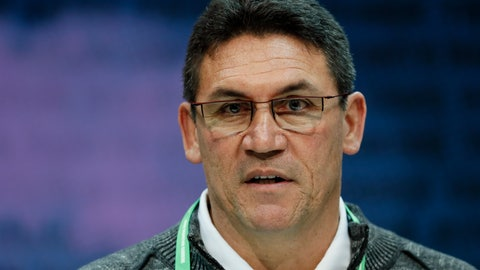<p>               Washington Redskins head coach Ron Rivera speaks during a press conference at the NFL football scouting combine in Indianapolis, Wednesday, Feb. 26, 2020. (AP Photo/Charlie Neibergall)             </p>
