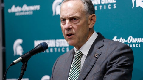 <p>               Michigan State's Mark Dantonio talks about his retirement from as the NCAA college football team's coach, Tuesday, Feb. 4, 2020, in East Lansing, Mich. (AP Photo/Al Goldis)             </p>