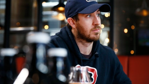 <p>               In this March 9, 2020, photo, Philadelphia Flyers' Kevin Hayes speaks during an interview with The Associated Press at Yards Brewing Company, in Philadelphia. Hayes' addition has been a big part of the Flyers success, his popularity soaring to the point there's now a Big Hayes-y IPA on tap at Yards Brewery. (AP Photo/Matt Slocum)             </p>