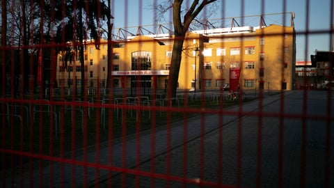 <p>               Gates are closed at the stadium 'An der alte Foersterei' where the German Bundesliga soccer match 1. FC Union Berlin against FC Bayern should have taken place in Berlin, Germany, Saturday, March 14, 2020. After the other four main leagues in Europe had already been suspended, the German soccer authorities gave in and suspended all Bundesliga games because of the novel coronavirus outbreak on Friday. For some, especially older adults and people with existing health problems, it can cause more severe illness, including pneumonia.(AP Photo/Markus Schreiber)             </p>
