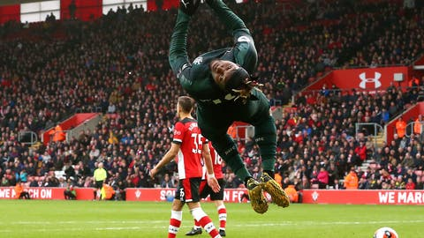 <p>               Newcastle United's Allan Saint-Maximin celebrates scoring against Southampton during the English Premier League soccer match between Southampton and Newcastle United, at St Mary's Stadium, in Southampton, England, Saturday March 7, 2020. (Mark Kerton/PA via AP)             </p>