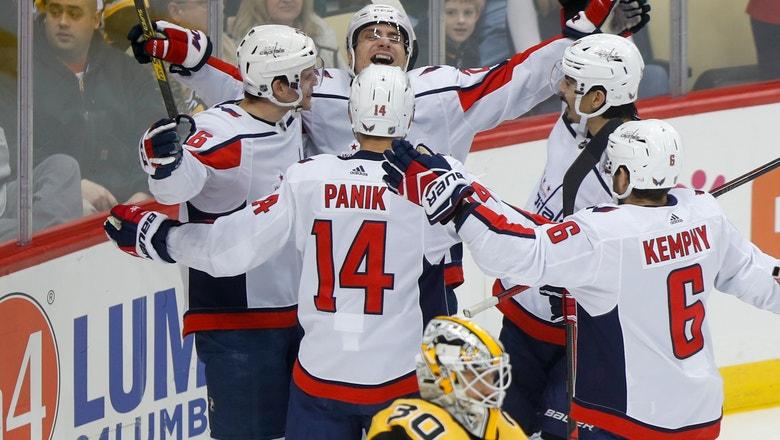 Capitals strike early, thrash Penguins 7-2