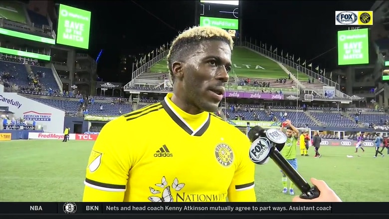 Gyasi Zardes says he's proud of the effort from the team against Seattle