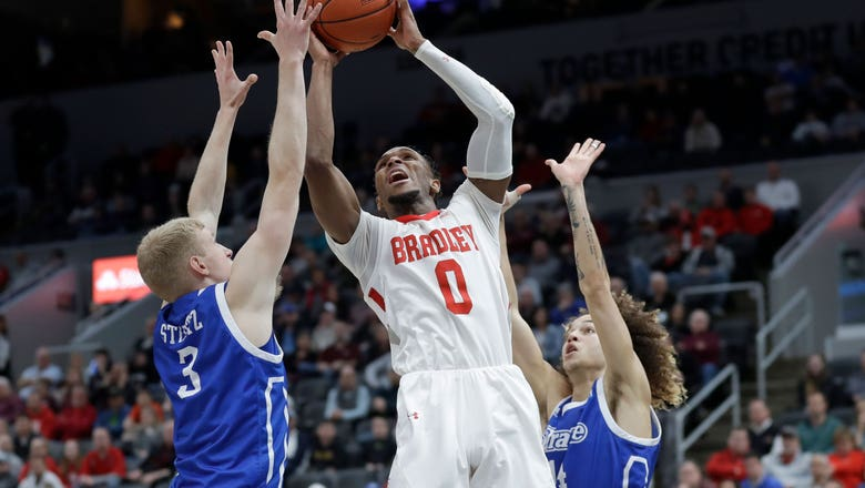 Bradley beats Drake 76-66 in MVC tournament semifinal
