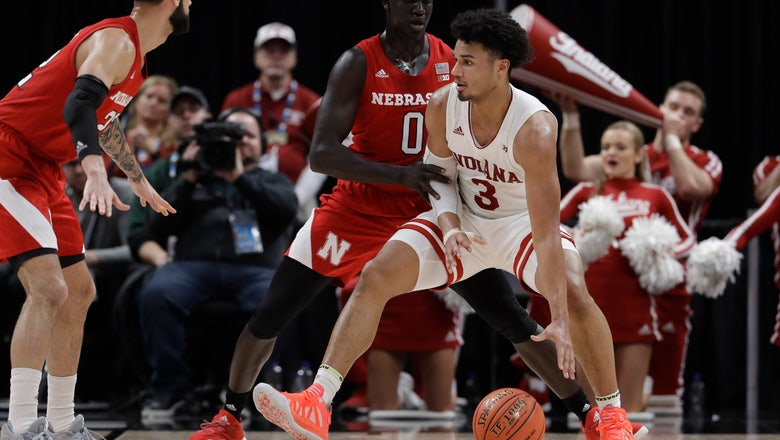 Indiana tops Nebraska 89-64 in Big Ten tournament, will play Penn State next