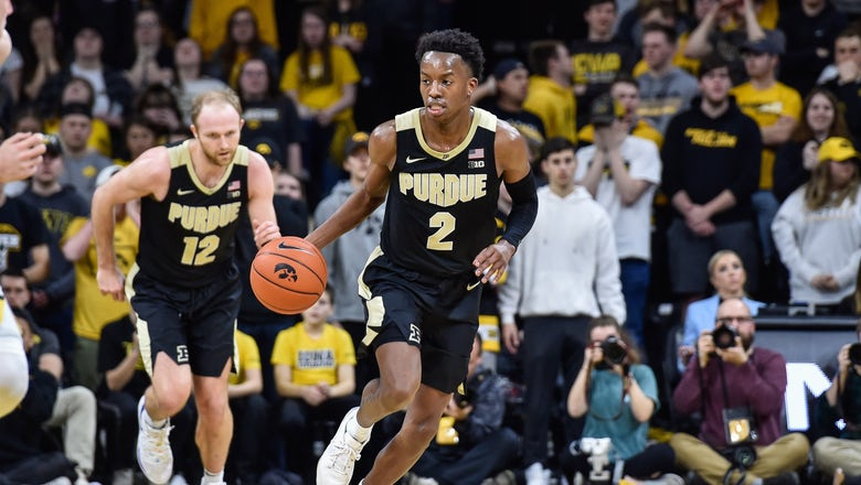 Boudreaux, Hunter Jr. guide Purdue to 77-68 victory over No. 18 Iowa