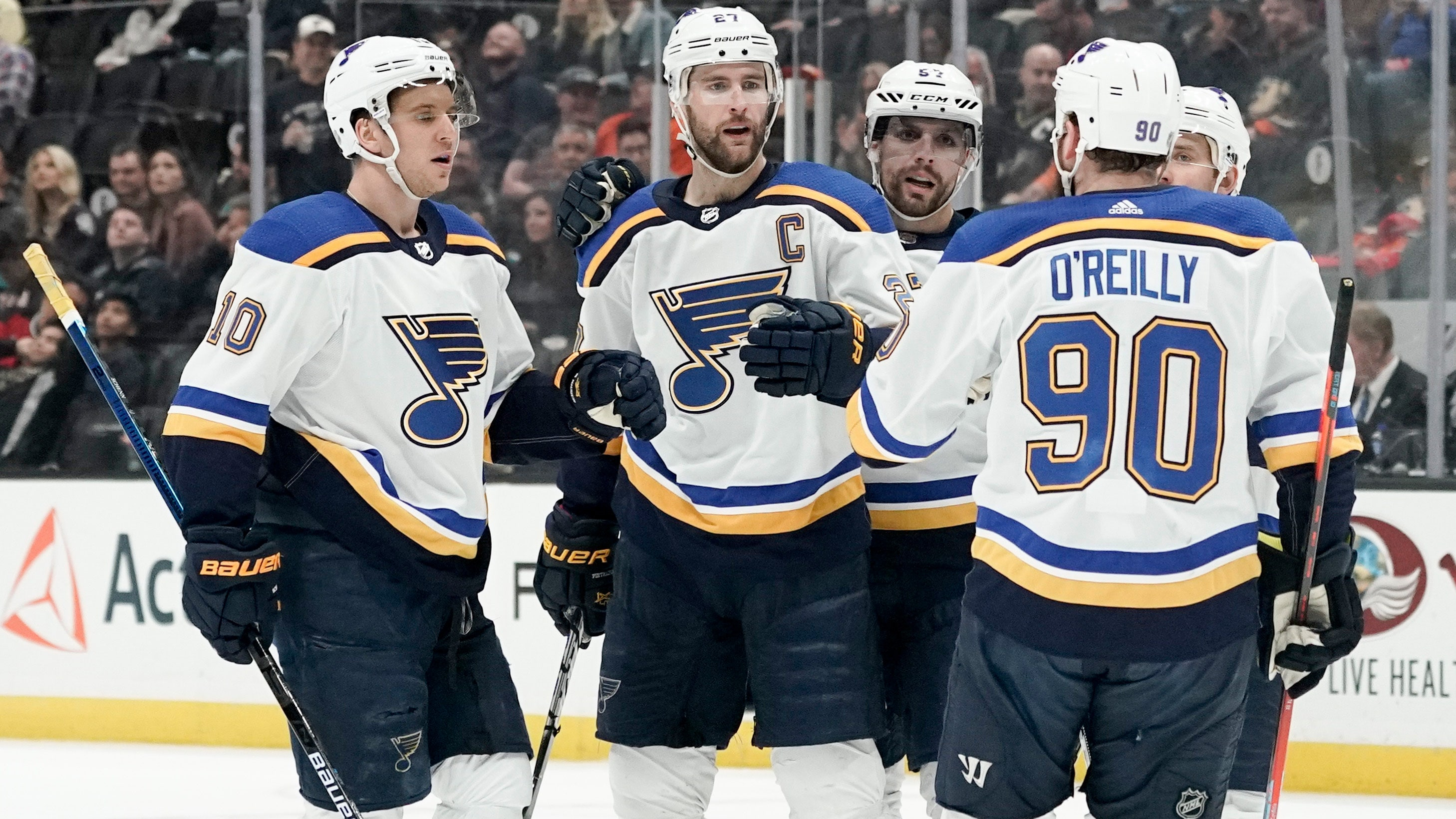 Pietrangelo S Two Goals Lift Blues To 4 2 Win Over Ducks Fox Sports