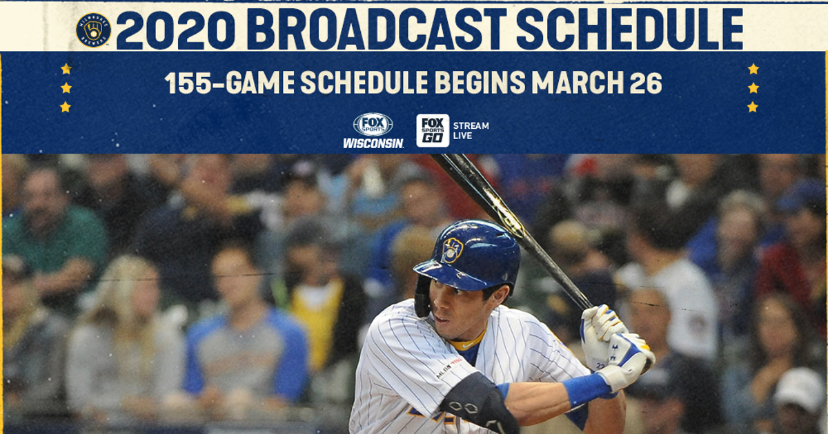 FOX Sports Wisconsin announces 2020 Brewers television schedule | FOX Sports