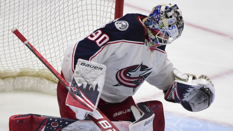 Merzlikins makes 26 saves in return, Blue Jackets top Canucks 2-1