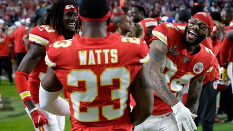 <p>               FILE - In this Feb. 2, 2020, file photo, Kansas City Chiefs' Armani Watts (23) celebrates with Alex Brown, left, and Jordan Lucas during the second half of the NFL Super Bowl 54 football game against the San Francisco 49ers in Miami Gardens, Fla.  Last month was set to stage what would have been its first-ever combine exclusively for football players from Historically Black College and Universities that didn't receive invites to the NFL Combine in Indianapolis. But that event was one of the many cancellation casualties of the coronavirus pandemic. (AP Photo/Mark Humphrey, File)             </p>