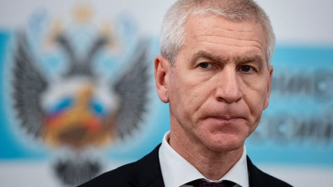 <p>               New Russian Sports Minister Oleg Matytsin attend a meeting with employees of Russian Sports Minister in Moscow, Russia, Wednesday, Jan. 22, 2020. (AP Photo/Alexander Zemlianichenko)             </p>