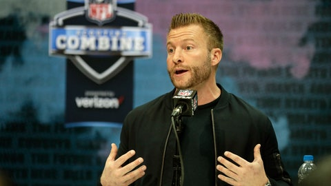 <p>               FLE - In this Feb. 25, 2020, file photo, Los Angeles Rams head coach Sean McVay speaks during a press conference at the NFL football scouting combine in Indianapolis. The 2020 NFL Draft is April 23-25. (AP Photo/Michael Conroy, File)             </p>