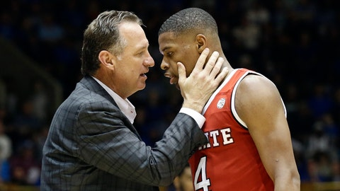 <p>               FILE - In this Jan. 23, 2017, file photo, N.C. State's head coach Mark Gottfried speaks with Dennis Smith Jr. during the second half of an NCAA college basketball game in Durham, N.C. North Carolina State's NCAA case involving recruiting violations tied to former Wolfpack one-and-done star Smith Jr. has been recommended to go through an independent investigation process created for complex cases. Gottfried is charged individually in N.C. State's infractions case under the provision of head-coach responsibility for violations within his program. (AP Photo/Gerry Broome, File)             </p>