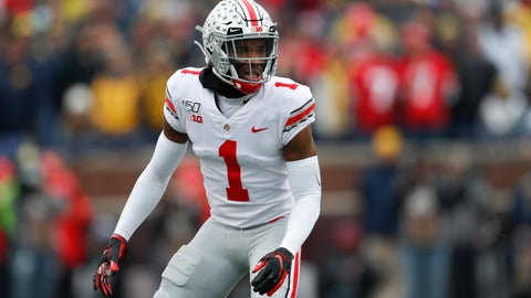 <p>               FILE - In this Nov. 30, 2019, file photo, Ohio State cornerback Jeff Okudah get ready for a Michigan play during an NCAA college football game in Ann Arbor, Mich. If the Detroit Lions choose to keep the No. 3 pick overall in the draft, Okudah is expected to be available for the taking. The Ohio State star appears to be worth being the highest-drafted player at his position since one was selected from the same school two-plus decades ago. (AP Photo/Paul Sancya, File)             </p>