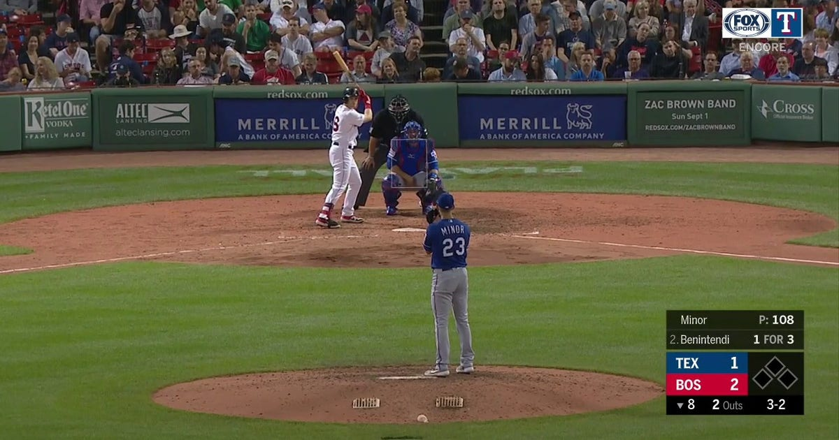 WATCH: Mike Minor tosses 6th strikeout of the game vs Red Sox | Rangers ENCORE (VIDEO)