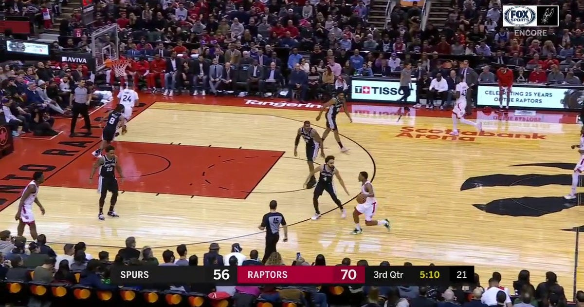 WATCH: Rudy Gay for 3 off the glass against the Raptors on January 12th | Spurs ENCORE (VIDEO)