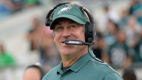 <p>               FILE - In this Aug. 15, 2019, file photo, Philadelphia Eagles head coach Doug Pederson watches from the sideline during the first half of an NFL preseason football game against the Jacksonville Jaguars in Jacksonville, Fla. Pederson enters his fifth season with a Super Bowl victory, two NFC East crowns and three straight playoff appearances on his resume. (AP Photo/Phelan M. Ebenhack, File)             </p>