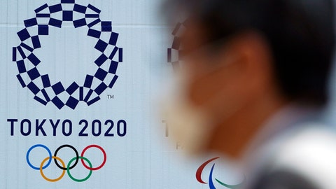 "<p>               FILE - In this April 2, 2020, file photo, a man wearing a face mask walks near the logo of the Tokyo 2020 Olympics, in Tokyo. Tokyo organizers said Tuesday, April 14, 2020 they have no ""B Plan"" for again rescheduling the Olympics, which were postponed until next year by the virus pandemic. They say they are going forward under the assumption the Olympics will open on July 23, 2021. (AP Photo/Eugene Hoshiko, File)             </p>"