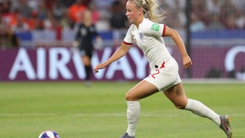 <p>               FILE - In this Tuesday, July 2, 2019 file photo, England's Beth Mead controls the ball during the Women's World Cup semifinal soccer match between England and the United States, at the Stade de Lyon outside Lyon, France. For England striker Beth Mead, the postponement of the Olympics until 2021 gives her a better chance of making the British squad for the Tokyo Games after damaging a medial collateral ligament in mid-February while playing for Arsenal. (AP Photo/Laurent Cipriani, File)             </p>