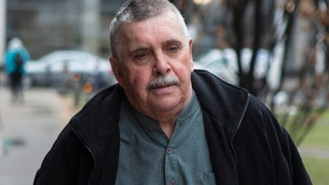 <p>               FILE - In this April 22, 2014, file photo, Gordon Stuckless arrives at court in Toronto. Stuckless, the man at the heart of the Maple Leaf Gardens sexual abuse scandal, died Thursday night, April 9, 2020, at a hospital in Hamilton, Ontario, after a brain hemorrhage Tuesday, lawyer Ari Goldkind said. Stuckless was in his early 70s. Stuckless was sentenced in 2016 to 6 1/2 years in prison — six after credit for his time on house arrest — for more than 100 offenses related to the sexual abuse of 18 boys over three decades. He was released to a halfway house on day parole in December. (Chris Young/The Canadian Press via AP, File)             </p>