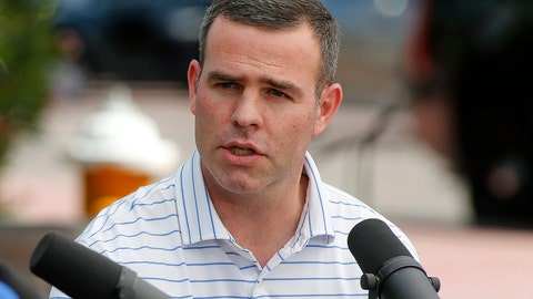 <p>               FILE - In this March 24, 2019, file photo, Buffalo Bills general manager Brandon Beane speaks during the annual NFL owners meetings in Phoenix. The 2020 NFL Draft is April 23-25.(AP Photo/Ralph Freso, File)             </p>