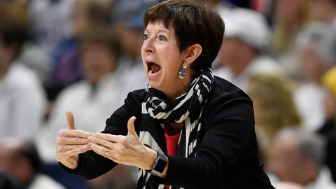 <p>               FILE - In this Dec. 9, 2019, file photo, Notre Dame head coach Muffet McGraw directs the team in the first half of an NCAA college basketball game against UConn, in Storrs, Conn. McGraw abruptly retired Wednesday, April 22, 2020, stepping down from Notre Dame after a Hall of Fame coaching career that includes two national championships in 33 seasons. (AP Photo/Jessica Hill, File)             </p>