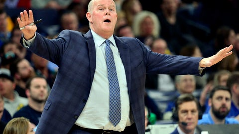 <p>               Orlando Magic coach Steve Clifford reacts during the second half of the team's NBA basketball game against the Memphis Grizzlies on Tuesday, March 10, 2020, in Memphis, Tenn. (AP Photo/Brandon Dill)             </p>