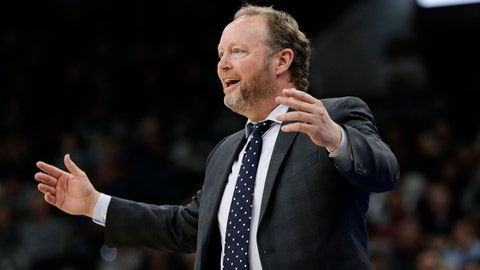<p>               FILE - In this Jan. 6, 2020, file photo, Milwaukee Bucks head coach Mike Budenholzer reacts to a call during the first half of an NBA basketball game against the San Antonio Spurs in San Antonio. The NBA-leading Bucks remain confident the pandemic won't put a permanent halt to the season and that they'll get to resume chasing their first league title in nearly half a century. The Bucks owned a 53-12 record when play was suspended on March 11. (AP Photo/Eric Gay, File)             </p>