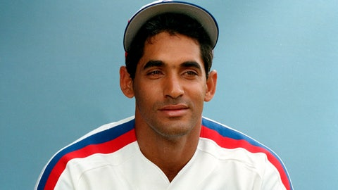 <p>               FILE - In this 1989 file photo, Montreal Expos. Dámaso García poses for a photo, location not known. Former Toronto Blue Jays second baseman García, a two-time All-Star in the mid-1980s, died Wednesday, April 15, 2020, in his native Dominican Republic. He was 63. His son Dámaso Jr. confirmed García's death to The Associated Press. The son said he passed away at 7.15 a.m. in Santo Domingo. He was at home with his wife Haydée Benoit. Two years after retiring with the Expos, García was diagnosed with a brain tumor and underwent surgery in 1991. He was told he possibly only had six to eight months live. He recovered, but had to deal with speech and mobility issues afterward. (AP Photo, File)             </p>