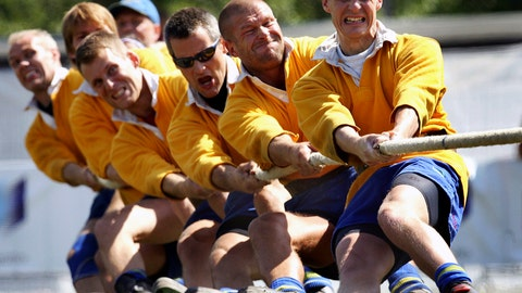 <p>               FILE - In this July 14, 2005, file photo, Team Sweden pulls during the men Tug of War competition at the World Games in Duisburg, Germany. Joining the array of postponed events in the midst of the coronavirus pandemic, officials announced Thursday that the 11th edition of the World Games in Birmingham, Alabama will now be held in the summer of 2022. (AP Photo/Michael Sohn, File)             </p>