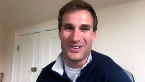 <p>               Minnesota Vikings NFL football quarterback Kirk Cousins speaks about his contract extension on a video conference call Tuesday, April 14, 2020. (AP Photo/Dave Campbell)             </p>