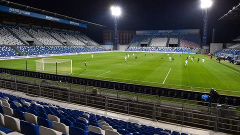 <p>               A view of the empty Mapei stadium as the Serie A soccer match between Sassuolo and Brescia is being played behind closed doors, in Reggio Emilia, Monday, March 9, 2020. Italian Premier Giuseppe Conte says he is restricting travel nationwide to try to stop the spread of the new coronavirus. Conte said Monday night a new government decree will require all people in Italy to demonstrate they need to work, have health conditions or other limited legitimate reasons to travel outside their home areas. (Massimo Paolone/LaPresse via AP)             </p>