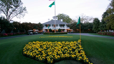 <p>               FILE - This April 5, 2006 file photo shows bright yellow flowers in the shape of the United States adorn the lawn at the clubhouse during practice for the 2006 Masters golf tournament at the Augusta National Golf Club in Augusta, Ga. The coronavirus pandemic has killed thousands, forced most everyone to hunker down in their homes, and shut down sporting events around the world. The Masters was not immune to its wrath. (AP Photo/David J. Phillip, File)             </p>
