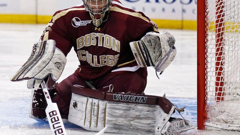 <p>               FILE - In this Feb. 4, 2013, file photo, Boston College goalie Parker Milner makes a save against Harvard during the second period of the opening round of the Beanpot college hockey tournament in Boston. ECHL players, fans and executives are getting creative in trying to raise money to make up for paychecks lost when the rest of the season was canceled. South Carolina goaltender Parker Milner hopes a quarantine concert brings awareness to the situation as well as some extra funds. (AP Photo/Charles Krupa, File)             </p>
