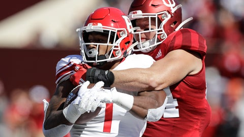 <p>               FILE - In this Oct. 12, 2019, file photo, Rutgers running back Isaih Pacheco, left, is tackled by Indiana linebacker Thomas Allen, right, during the first half of an NCAA college football game, in Bloomington, Ind. Allen had season-ending surgery on his left shoulder in November, and his dedication and focus during rehabilitation led him to recently declare himself 85 to 90 percent healthy. His recovery plan changed dramatically when the coronavirus pandemic led to the suspension of athletic activities. (AP Photo/Darron Cummings, File)             </p>