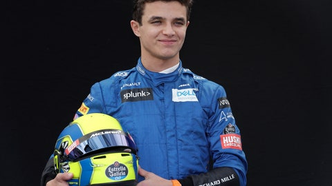 <p>               FILE - In this March 12, 2020, file photo, McLaren driver Lando Norris, of Britain, poses for a photo at the Australian Formula One Grand Prix in Melbourne. Formula One driver Norris embarrassed the field in his IndyCar iRacing debut by dominating the race at virtual Circuit of the Americas in Texas, Saturday, April 25, 2020. He was poised to begin his second F1 season with McLaren in March when a team member tested positive for the new coronavirus at the season-opening Australian Grand Prix and the series immediately suspended competition. (AP Photo/Rick Rycroft, File)             </p>