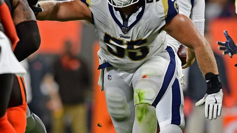 <p>               In this Sept. 22, 2019, photo, Los Angeles Rams center Brian Allen blocks during the second half of an NFL football game against the Cleveland Browns in Cleveland. Allen said Wednesday, April 15, 2020, that he tested positive for COVID-19 three weeks ago. Allen is the first active NFL player to acknowledge testing positive during the coronavirus pandemic. (AP Photo/David Dermer)             </p>