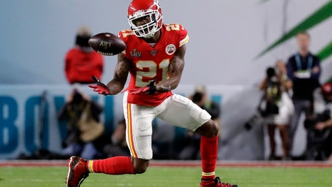 <p>               FILE - In this Feb. 2, 2020, file photo, Kansas City Chiefs' Bashaud Breeland (21) intercepts a San Francisco 49ers pass during the first half of NFL football's Super Bowl 54 in Miami Gardens, Fla. Breeland was arrested on several charges Tuesday, April 28, in South Carolina, including possessing marijuana or hash, driving with an open container of alcohol and resisting arrest. The 28-year-old Breeland, of Charlotte, N.C., was being held at the York County Jail, according to the facility's online records. (AP Photo/Wilfredo Lee, File)             </p>