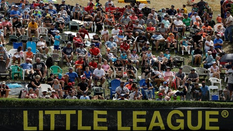 <p>               In this Aug. 24, 2019, photo, Little League fans watch from the hillside overlooking left field at Lamade Stadium during the International Championship baseball game between Curacao and Japan at the Little League World Series tournament in South Williamsport, Pa. Little League has been benched. The youth baseball program that boasts more than 2.5 million kids spread over 6,500 programs in 84 countries is on hold at least until May 11 due to the corona virus pandemic. Even that target date for a return to the sports lineup seems optimistic, and the fate of its signature event, the Little League World Series in August in South Williamsport, Pennsylvania is unclear. (AP Photo/Gene J. Puskar)             </p>