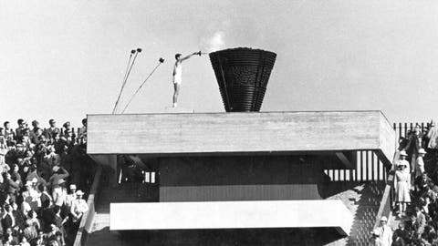 <p>               FILE - In this Oct. 10, 1964, file photo, Japanese runner Yoshinori Sakai lights the Olympic cauldron during the opening ceremony of the 1964 Summer Olympics in Tokyo. Sakai was born in Hiroshima on Aug. 6, 1945, the day the nuclear weapon destroyed that city. The 1964 Tokyo Olympics are being remembered fondly following the postponement until 2021 of the Tokyo 2020 Games. The '64 Olympics were the first to be televised internationally using communication satellites. (AP Photo/File)             </p>