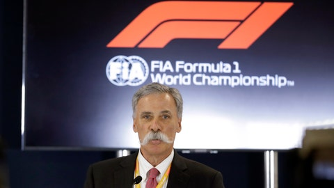 """<p>               FILE - In this file photo dated Thursday, Oct. 31, 2019, Formula One chairman Chase Carey speaks during a news conference at the Formula One U.S. Grand Prix auto race at the Circuit of the Americas, in Austin, USA.  Carey said Monday April 27, 2020, he is """"increasingly confident"""" the season can start in July despite the first 10 races being canceled or postponed amid the coronavirus pandemic. (AP Photo/Darron Cummings, FILE)             </p>"""