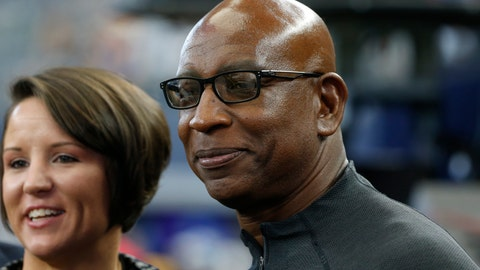 <p>               FILE - In this Dec. 15, 2019, file photo, former NFL running back Eric Dickerson is pictured before an NFL football game between the Los Angeles Rams and the Dallas Cowboys in Arlington, Texas. Dickerson was the second pick of the 1983 draft by the Rams.  (AP Photo/Michael Ainsworth, File)             </p>