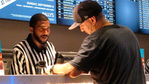 <p>               FILE - In this Sept. 5, 2019, file photo, a gambler making a sports bet at Bally's casino in Atlantic City, N.J. The NFL draft starting on Thursday, April 23, 2020, is expected to be the most heavily wagered-on draft ever, mainly because virtually all major sporting events have been postponed due to the coronavirus outbreak. (AP Photo/Wayne Parry, File)             </p>