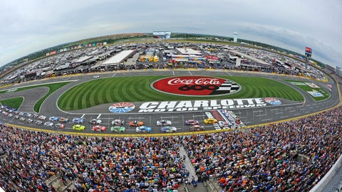 <p>               FILE - In this May 27, 2018, file photo, the field takes the green flag to start the NASCAR Cup Series auto race at Charlotte Motor Speedway in Concord, N.C. The governor of North Carolina says NASCAR can go forward with the Coca-Cola 600 at Charlotte Motor Speedway at the end of May so long as health conditions do not deteriorate in the state. Gov. Roy Cooper said Tuesday he and state public health officials have had discussions with NASCAR and the speedway regarding its safety protocols for staging a race without spectators. Cooper said the state offered input on NASCAR's plan, but he believes the race can go forward on Memorial Day weekend for the 60th consecutive year.  (AP Photo/Mike McCarn, file)             </p>