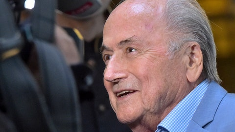 <p>               FILE - In this Tuesday, June 19, 2018 file photo, former FIFA President Joseph Blatter arrives at a hotel in Moscow, Russia. Suspended former FIFA president Sepp Blatter has arrived in Moscow for a World Cup visit at the invitation of Russian President Vladimir Putin. Five years into a sprawling investigation of soccer corruption, the first courtroom trial in Switzerland is due to begin Monday, March 9, 2020 in a 2006 World Cup fraud case. Sepp Blatter, the former FIFA president, and German soccer great Franz Beckenbauer are listed by Switzerland's federal criminal court to testify in the trial of four soccer officials implicated in a suspect 6.7 million euros ($7.6 million) payment. (AP Photo/Dmitry Serebryakov, file)             </p>
